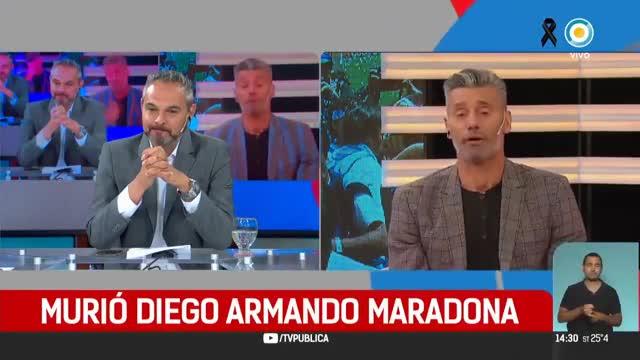 Duele en el alma: la emoción de la televisión pública argentina tras la muerte de Maradona