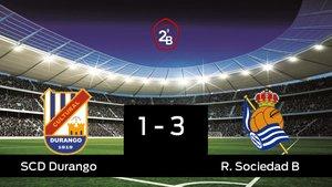 El Durango cae derrotado ante la Real Sociedad B (1-3)
