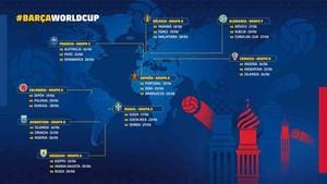 Este es el calendario de los jugadores del Barcelona en el Mundial de Rusia 2018