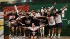 La expedición del RCT Barcelona celebrando el título