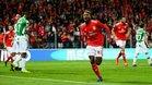 Florentino Luis celebra un gol ante el Moreirense, el único que ha anotado con el Benfica