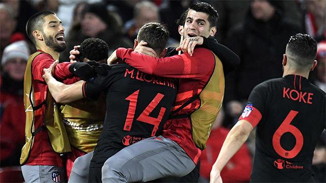 Un heroico Atlético conquista Anfield