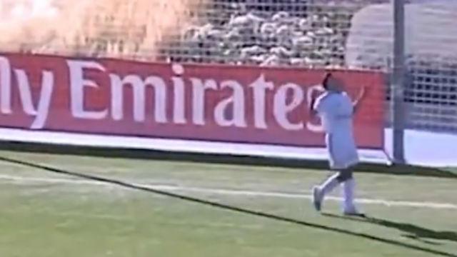 El hijo de Reyes dedicó un gol a su padre