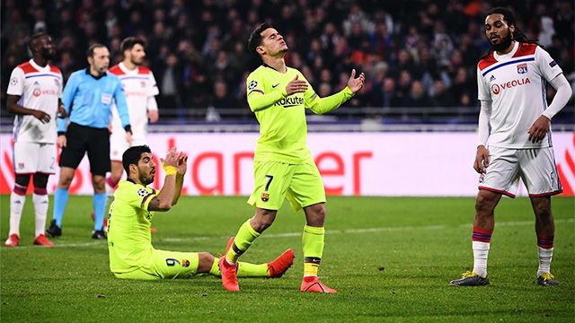 Se intentó todo, pero no entró nada: así fue el resumen del Lyon-Barça