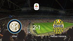 El Inter vence 2-1 al Hellas Verona en el Giuseppe Meazza