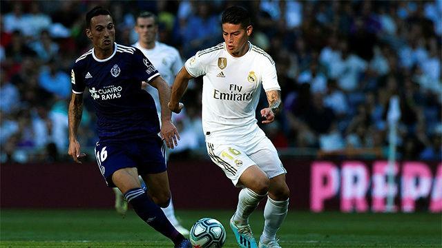 James Rodríguez volvió al Bernabéu. Así ha sido su partido ante el Valladolid