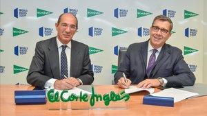 José Luis González Besada y José Luis Serrano en el momento de la firma del acuerdo
