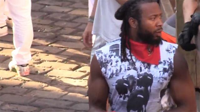 Josh Norman, de los Washington Redskins, ha corrido el encierro en San Fermín