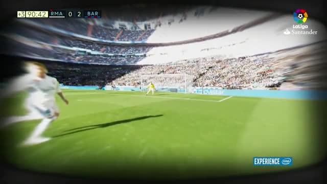 LALIGA | Real Madrid - FC Barcelona (0-3) Lo nunca visto: El gol de Luis Suárez, desde los ojos de Sergi Roberto