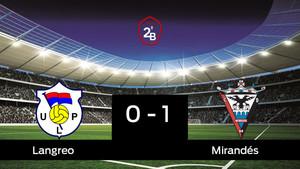 El Langreo cae derrotado ante el Mirandés por 0-1