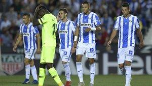 El Leganés pasó por encima del Barça en la segunda parte