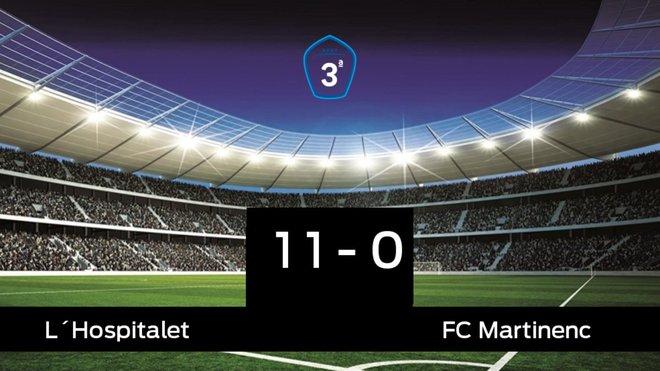 El L'Hospitalet se queda los tres puntos frente al Martinenc