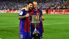 Si Messi e Iniesta vuelven a levantar la Copa el 21 de abril, harán historia de nuevo