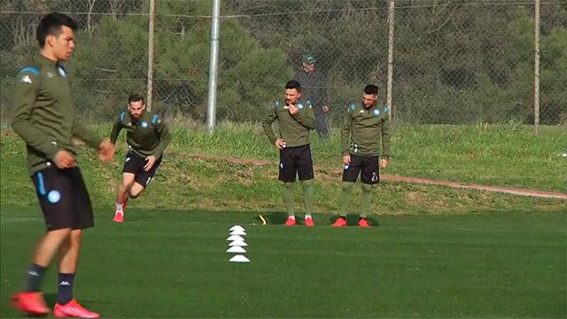 El Napoli, listo para el Barça