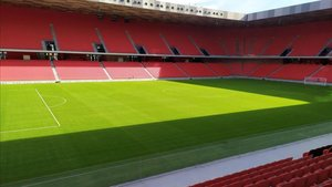 El nuevo estadio de Albania por dentro