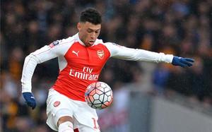Oxlade, con el Arsenal