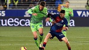 Pese a su derrota ante el Lugo, el Huesca continúa en zona de liguilla