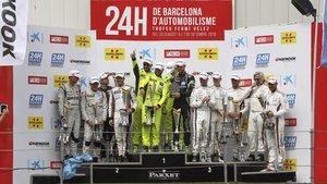 El podio de los vencedores de esta edición de las 24 Horas de Barcelona