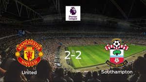 Reparto de puntos entre el Manchester United y el Southampton (2-2)
