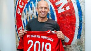 Robben en la renovación de su contrato