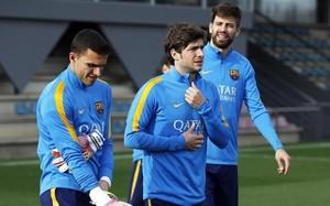 Sergi Roberto se reincorporó este jueves a los entrenamientos tras superar su lesión en el muslo derecho