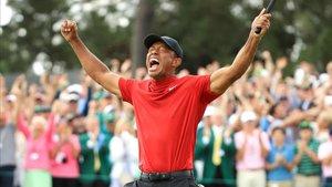 Tiger, eufórico tras su victoria en el Masters