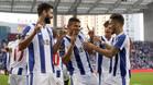 Tiquinho, en el centro, abrió el camino de la victoria del Porto