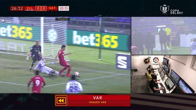 El VAR sigue dejando dudas: el Valladolid se quejó de un penalti que terminó en gol