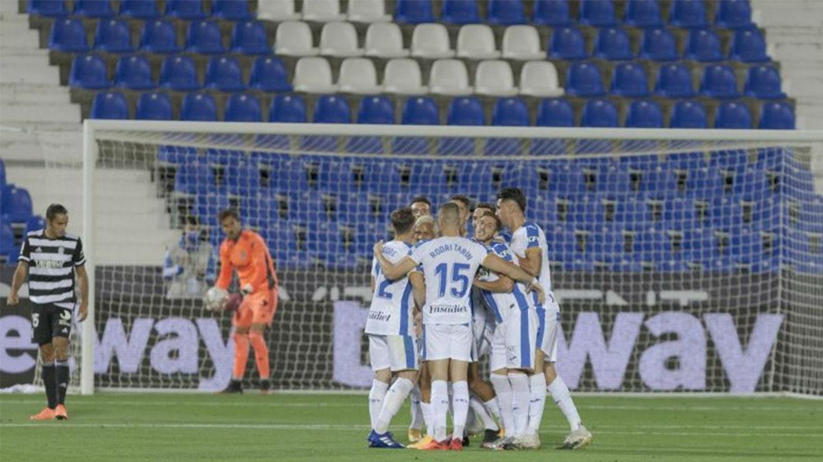 Victoria del Leganés frente al Cartagena (3-1)