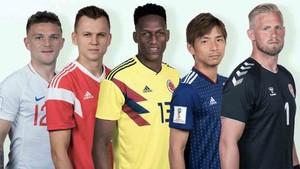 Yerry Mina y los otros cuatro jugadores que destaca la FIFA