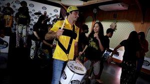 Sainz, en un acto previo al inicio del GP de Brasil