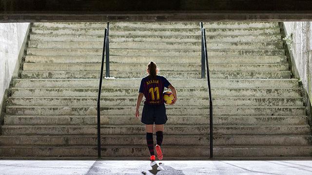 Alexia logró marcar el gol más lejano marcado nunca en el Camp Nou