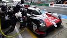 Alonso, durante el test en Le Mans