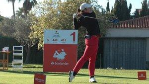 La amateur Ana Peláez, en el arranque del torneo en Oliva Nova