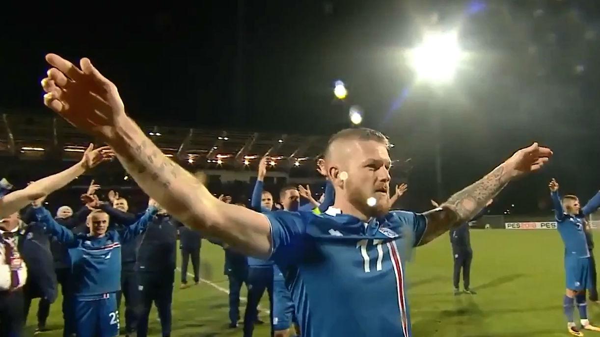 Así celebró Islandia su clasificación para el Mundial