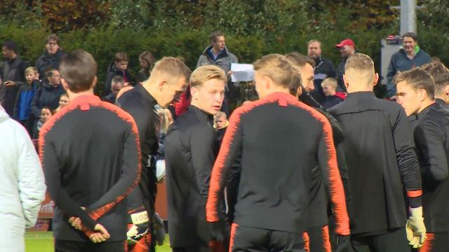 Así fue el entrenamiento de De Jong con Holanda