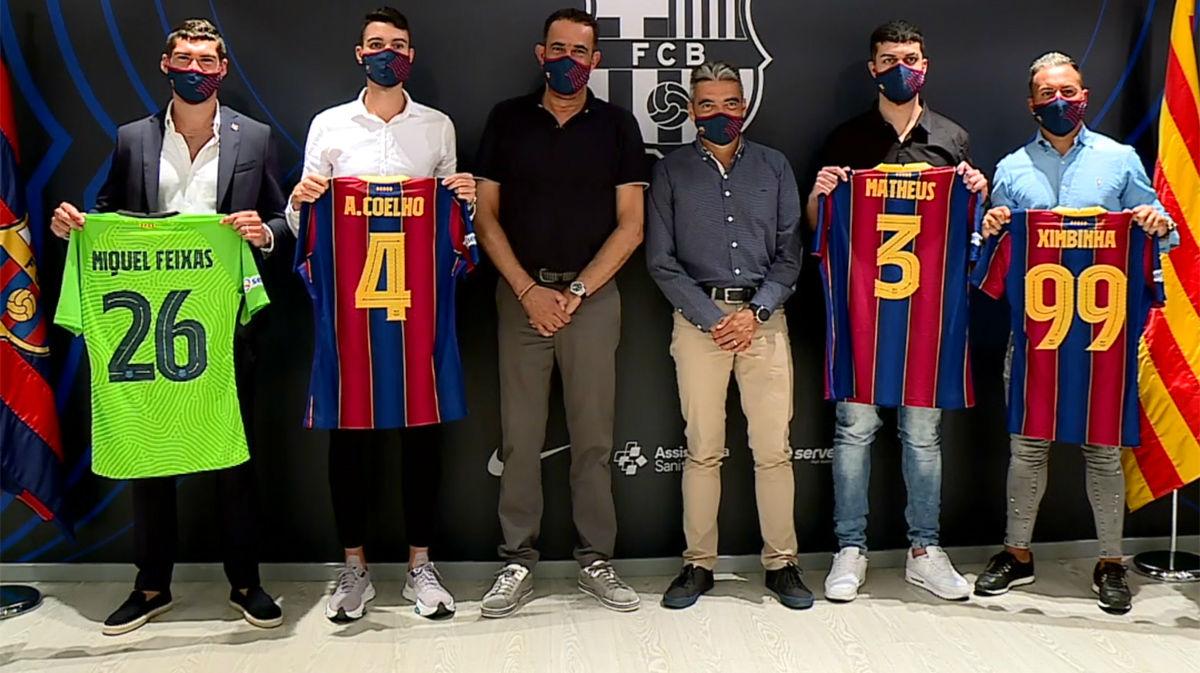 El Barça de futbol sala presenta cuatro fichajes