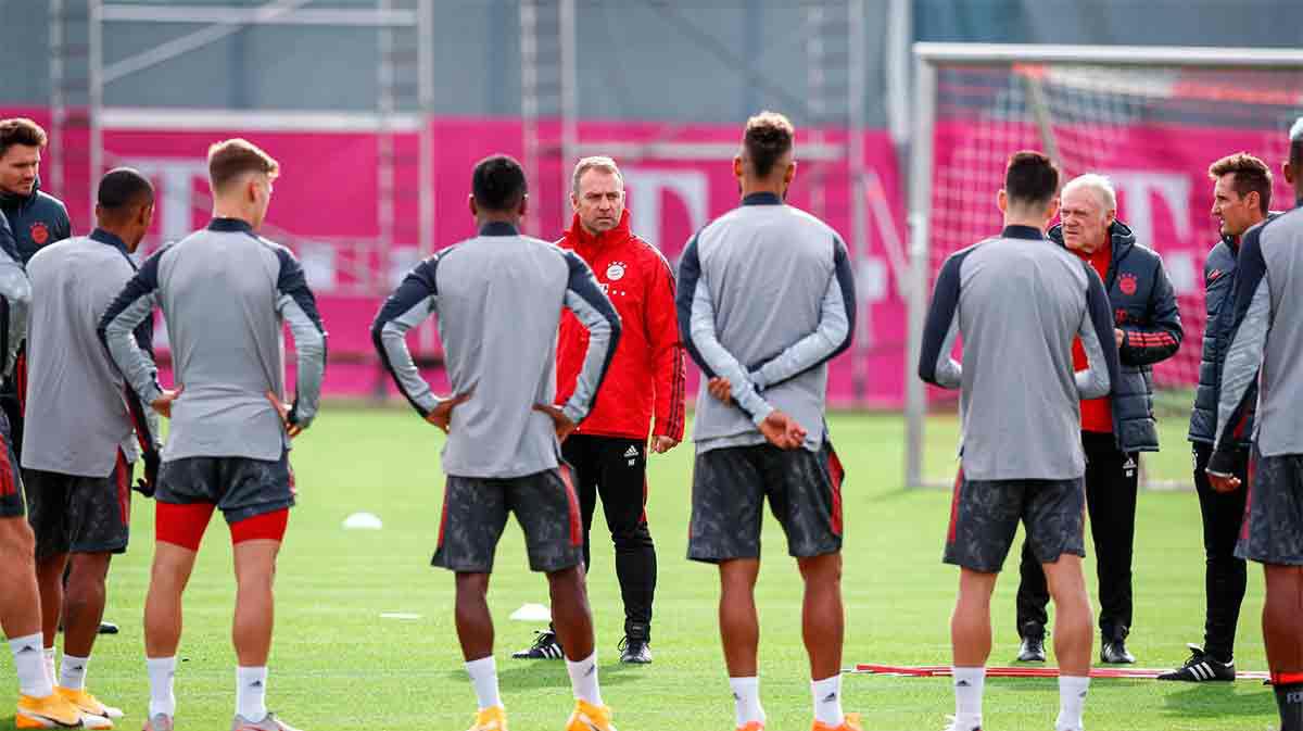 El Bayern Múnich entrena de cara al partido contra el Atlético de Madrid