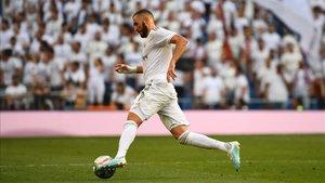 Benzema anotó el único gol madridista