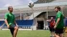 El brasileño y Sergi Roberto, peloteando en Andorra