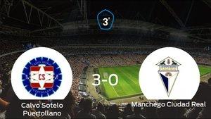El Calvo Sotelo Puertollano consigue los tres puntos en casa tras pasar por encima al Ciudad Real (3-0)
