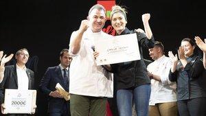 Carla Peyron ganadora de la 4ª edición del concurso de tapas GMchef con Martín Berasategui
