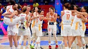 España celebró el pase a la final a lo grande