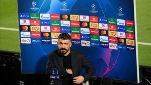 A Gattuso le gustó la segunda parte de su Nápoles