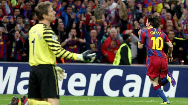 El gol de Messi al Manchester United en la final de la Champions 2011 en Wembley