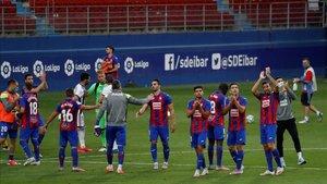 Imagen de archivo del Eibar en el último partido de liga como locales