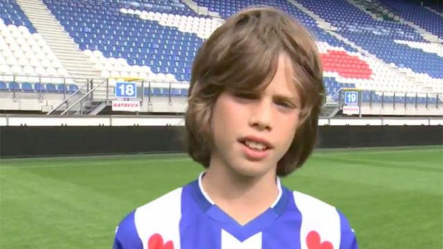 Kik Pierie, nuevo fichaje del Ajax, de pequeño: Espero llegar al Barcelona