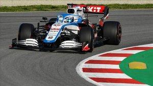 Latifi durante los test de F1 en Montmeló