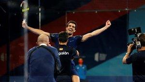 Lebrón y Galán celebran su victoria en Alicante