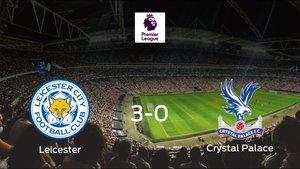 El Leicester City se pasea frente al Crystal Palace sin apenas obstáculos (3-0)